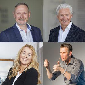 Die 4 vom 5. IMT: Thomas Issler, Volker Geyer, Jörg Mosler und Umberta Andrea Simonis